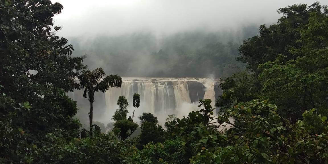 Athirappally  Waterfalls Chalakaudy (The Bahubali waterfalls).